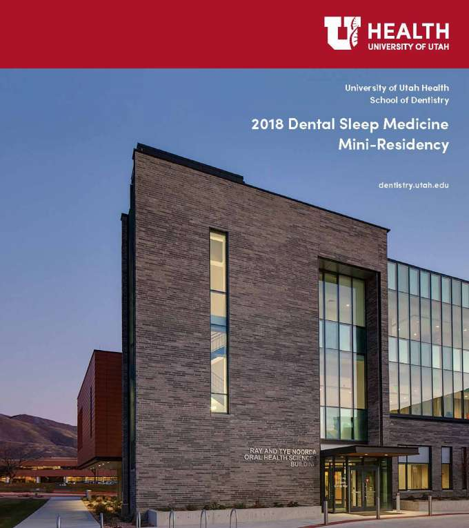 2018 Dental Sleep Medicine Mini-Residency | 2017-2018