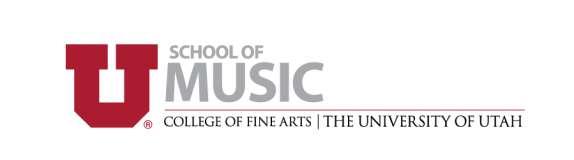 UofU School of Mjusic Logo